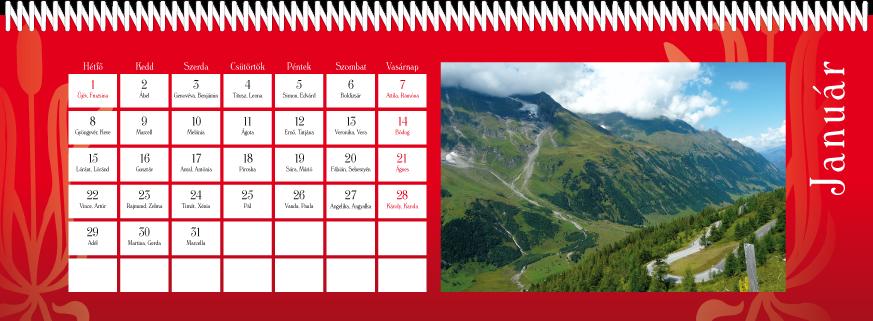 52 lapos naptár Asztali naptár készítés, tervezés, szerkesztés, nyomtatás   Ritter  52 lapos naptár
